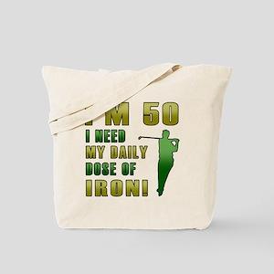 50th Birthday Golf Humor Tote Bag