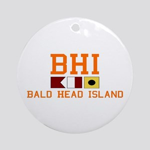 Bald Head Island NC - Nautical Design Ornament (Ro