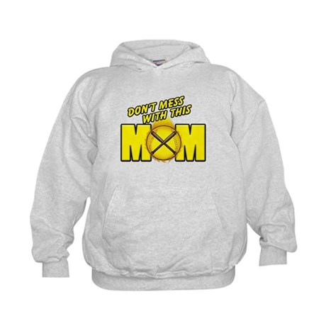 Softball Mom Kids Hoodie
