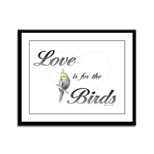 Love is for the Birds Framed Panel Print