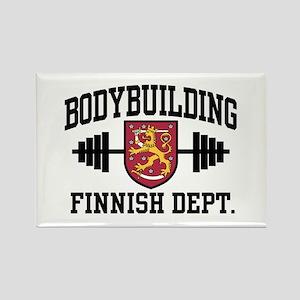 Finnish Bodybuilding Rectangle Magnet