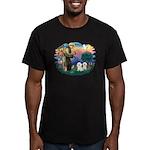 St Francis #2/ Bichon (2) Men's Fitted T-Shirt (da