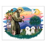 St Francis #2/ Bichon (2) Small Poster