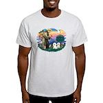 St Francis #2/ Bichon (2) Light T-Shirt