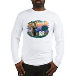 St Francis #2/ Bichon (2) Long Sleeve T-Shirt