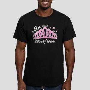 Tiara 50th Birthday Queen Men's Fitted T-Shirt (da