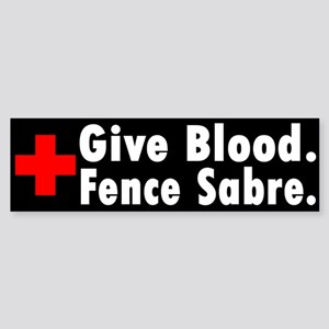 Blood Donation Bumper Sticker