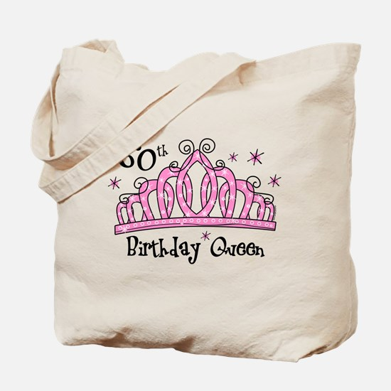 Tiara 60th Birthday Queen Tote Bag