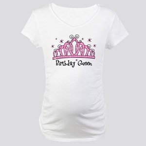 Tiara Birthday Queen Maternity T-Shirt