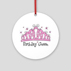 Tiara Birthday Queen Ornament (Round)