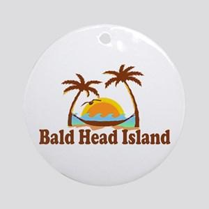Bald Head Island NC - Sun and Palm Trees Design Or