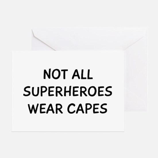 Not Superheroes Greeting Card