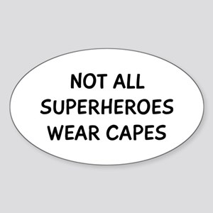 Not Capes Sticker (Oval)