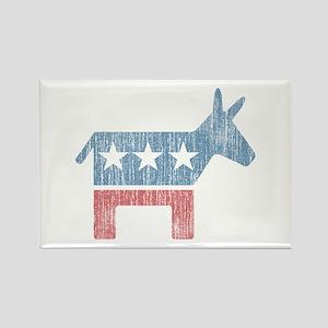 Vintage Democrat Donkey Rectangle Magnet