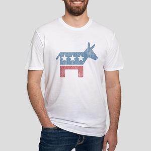 Vintage Democrat Donkey Fitted T-Shirt