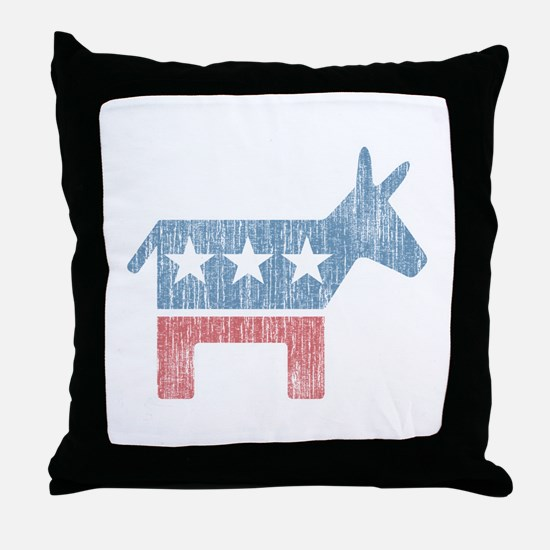 Vintage Democrat Donkey Throw Pillow