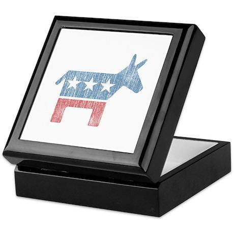 Vintage Democrat Donkey Keepsake Box
