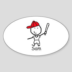 Baseball - Sam Oval Sticker