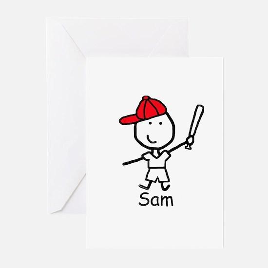 Baseball - Sam Greeting Cards (Pk of 10)