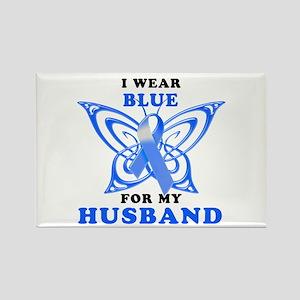 I Wear Blue for my Husband Rectangle Magnet