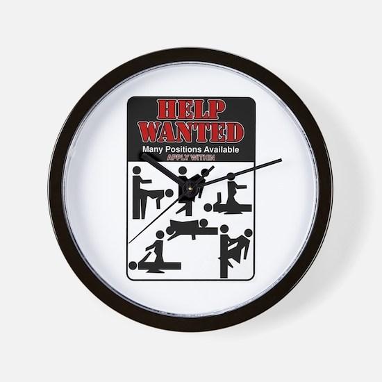 Help Wanted Wall Clock
