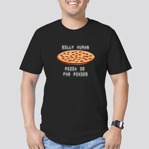 Pizza for Pixies Men's Fitted T-Shirt (dark)