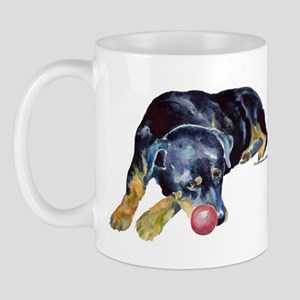 Rottweiller with Ball Mug