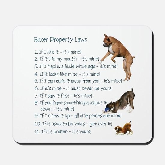 Boxer Laws Mousepad