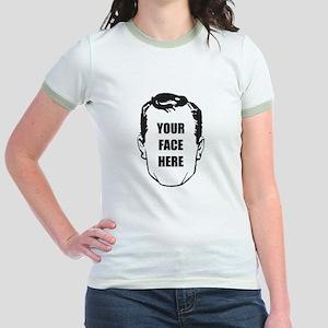 'Face Place' Jr. Ringer T-shirt