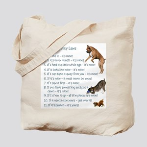 Boxer Rules Tote Bag