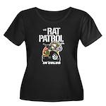 THE RAT PATROL Women's Plus Size Scoop Neck Dark T