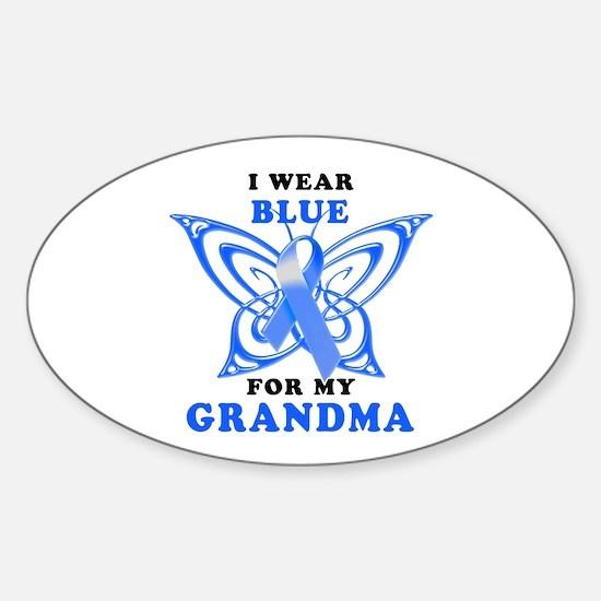 I Wear Blue for my Grandma Sticker (Oval)