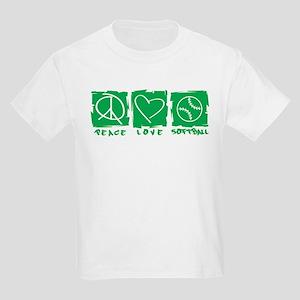Peace.Love.Softball Kids Light T-Shirt