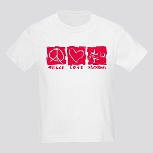 Peace.Love.Kickball Kids Light T-Shirt
