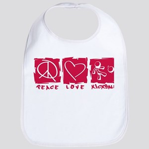 Peace.Love.Kickball Bib