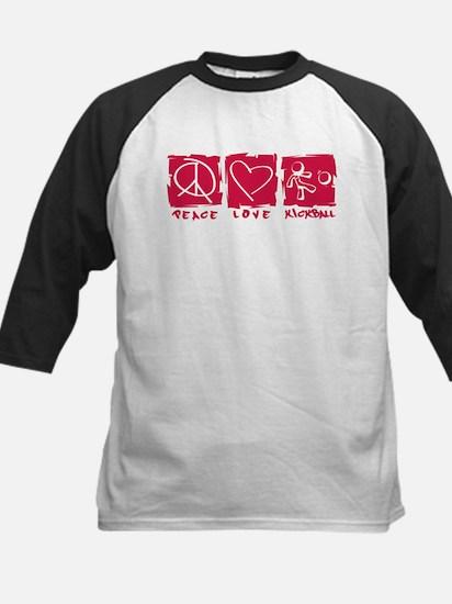 Peace.Love.Kickball Kids Baseball Jersey