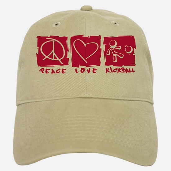 Peace.Love.Kickball Cap