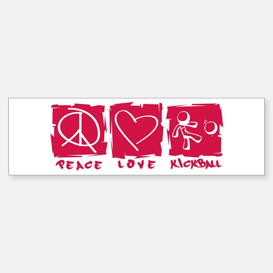 Peace.Love.Kickball Sticker (Bumper)