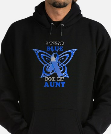 I Wear Blue for my Aunt Hoodie (dark)