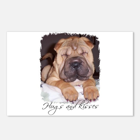 HUGS AND KISSES Postcards (Package of 8)