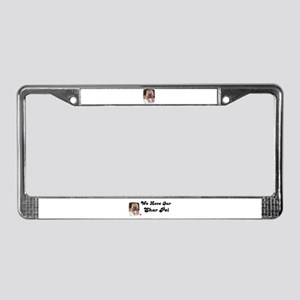 HUGS AND KISSES License Plate Frame