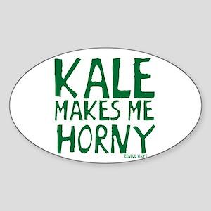 Kale Makes Me Horny Sticker (Oval)