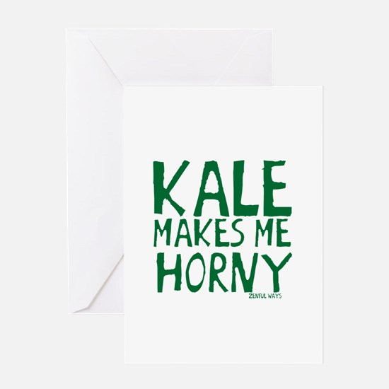 Kale Makes Me Horny Greeting Card