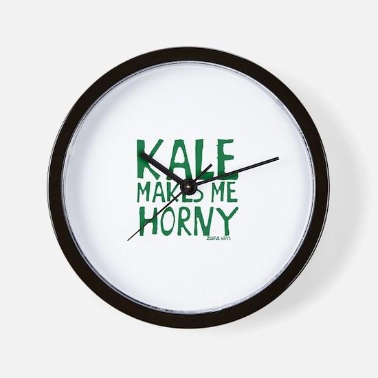 Kale Makes Me Horny Wall Clock