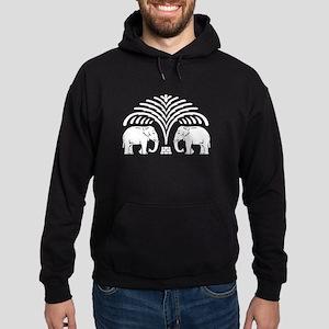 Elephants under Tree Hoodie (dark)
