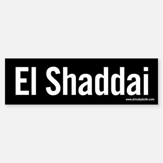 El Shaddai Bumper Bumper Bumper Sticker
