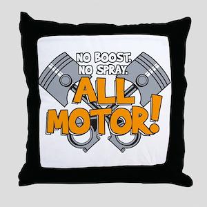 All Motor Throw Pillow