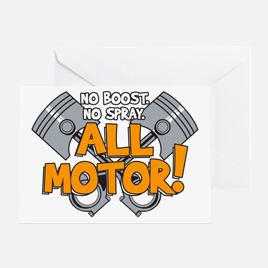 All Motor Greeting Card