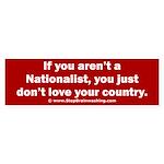 Proud Nationalist Sticker (Bumper)