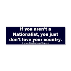 Proud Nationalist Car Magnet 10 x 3